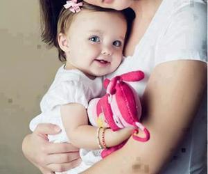 cute, baby, and mom image
