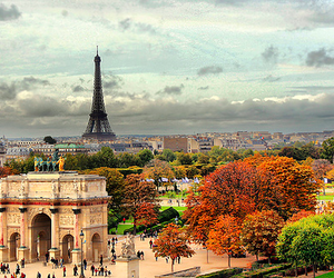 autumn, eiffel tower, and france image