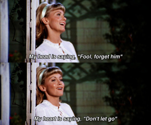 love, grease, and quotes image