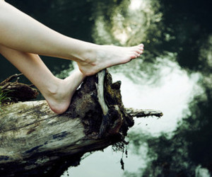 girl, nature, and feet image