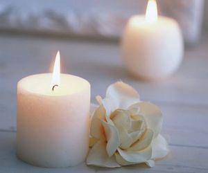candle, flower, and white image