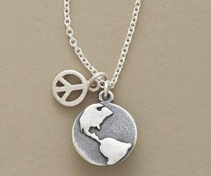 peace, world, and necklace image