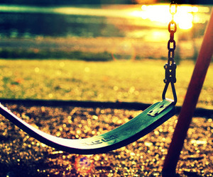 swing, childhood, and photography image