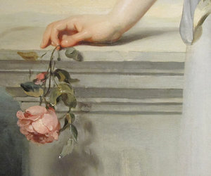 art, flowers, and rose image