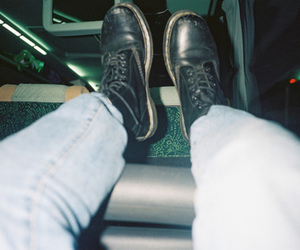 boots, dr. martens, and skinhead image