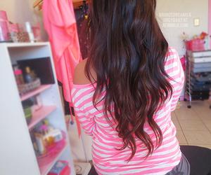 hair, girly, and pink image