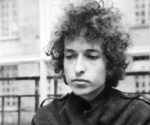 black and white and bob dylan image