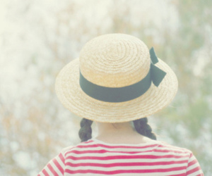 girl, hat, and braid image