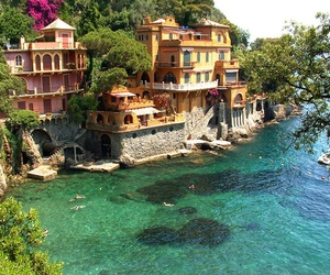 house, italy, and sea image