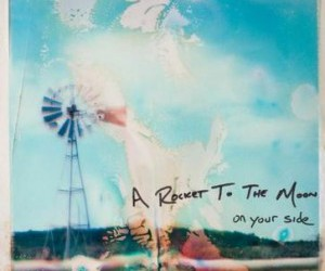 a rocket to the moon, album cover, and music image