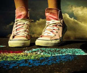 shoes, converse, and pink image