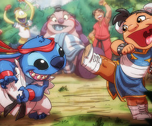 disney, lilo & stitch, and street fighter image