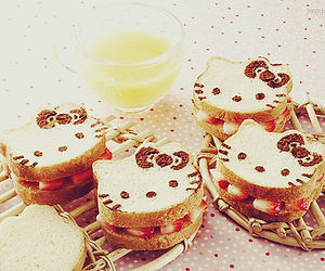 food, hello kitty, and strawberry image