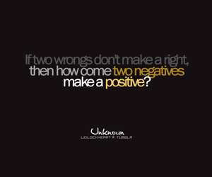 negative, quote, and positive image