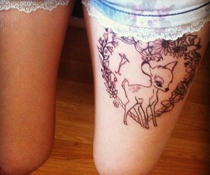 tattoo, disney, and bambi image