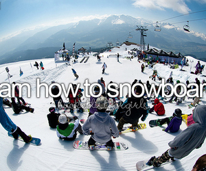 snow, snowboard, and photography image