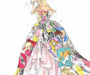 barbie, dress, and drawing image