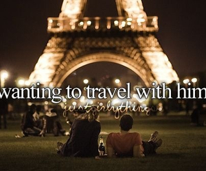love, paris, and travel image