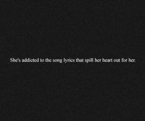 song, quote, and feelings image