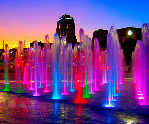 colorful, cool, and fountain image