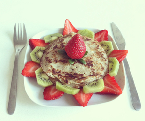 food, healthy, and pancakes image