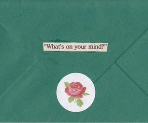 Letter, mind, and flowers image