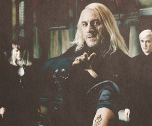 harry potter, draco malfoy, and lucius malfoy image