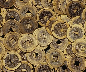 china, chinese coins, and coins of luck image