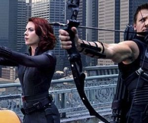 hawkeye, black widow, and Scarlett Johansson image
