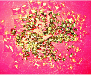 gold, pink, and glitter image