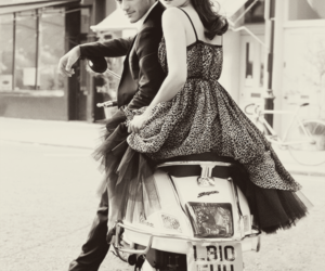black and white, motorcycle, and gemma arterton image