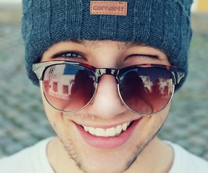 boy, smile, and sunglasses image