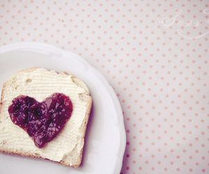 heart, food, and bread image