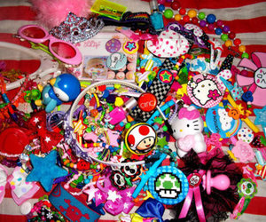 colorful, hello kitty, and stuff image