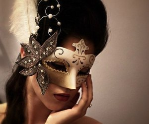 beautiful, girl, and masquerade image