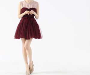 dress, red, and gitl image
