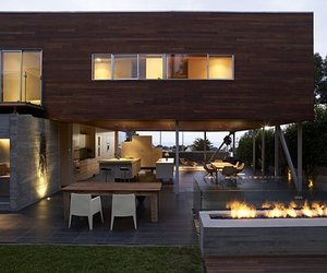 architecture, fire, and wood image