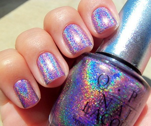 nails, glitter, and opi image