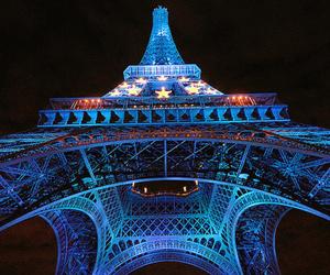 paris, blue, and eiffel tower image