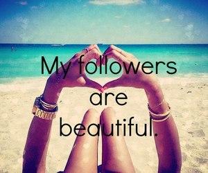 followers, beautiful, and beach image