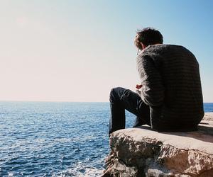 boy, photography, and sea image