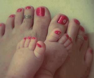 baby, nails, and feet image