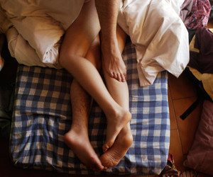 bed, couple, and sex image