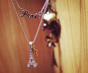 paris, necklace, and eiffel tower image