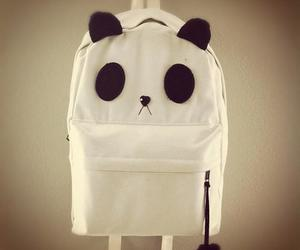 panda, cute, and backpack image