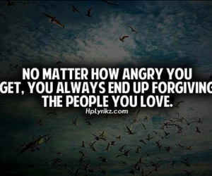 love, forgive, and angry image