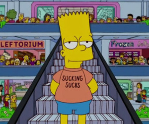 sucks, the simpsons, and simpsons image