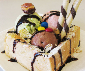 bread, colorful, and creamy image