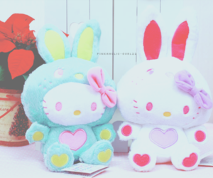 hello kitty, cute, and bunny image