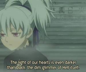 darker than black, anime, and yin image